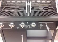 Leistungsstarker Gasgrill mit Holzkohle-Option