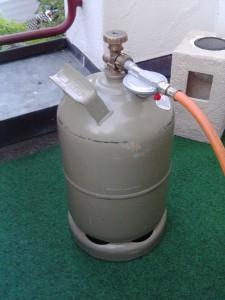 Gasflasche mit Gasleitung