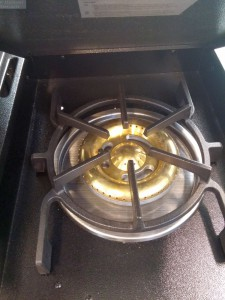 Kochstelle bei einem Gasgrill